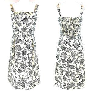 NEW Karin Stevens 12 cream floral sleeveless dress